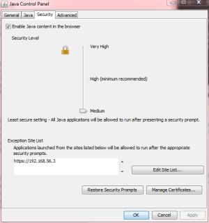 JavaControlPanel